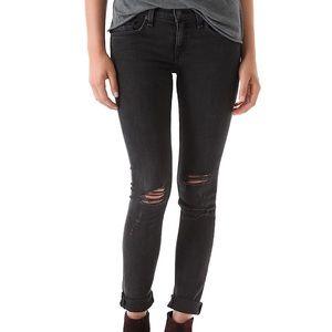 Rag & Bone/JEAN Rock with Holes Skinny Jeans